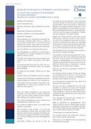 Télécharger le discours du Président Jacques ... - Fondation Chirac