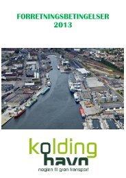FORRETNINGSBETINGELSER 2013 - Kolding Havn