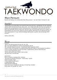 Her kan du downloade Mon pensum - Aarhus Syd Taekwondo