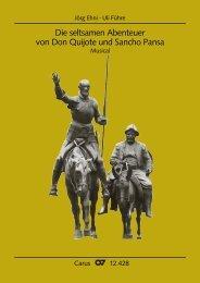 Die seltsamen Abenteuer von Don Quijote und Sancho Pansa