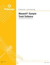 Maxwell Sample Track Software Teknisk vejledning ... - Promega