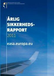 Årlig sikkerheds rapport 2011 - European Aviation Safety Agency ...