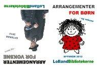Arrangementsprogram efterår 2012 - LollandBibliotekerne