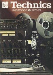 Technics Hi-Fi Program 1978/79