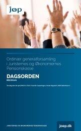 Indkaldelse til ordinær generalforsamling - JØP