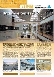 Betonelement-Prisen 2002 - Aalborg Portland
