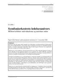 Symfoniorkestrets ledelsesunivers - Christian S. Nissen