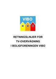 retningslinjer for tv-overvågning i boligforeningen vibo