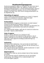 Studieretningopgave SRO - Frederiksborg Gymnasium og HF