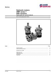 Hydraulic motors OMP series 7 SAE versions - Sauer-Danfoss