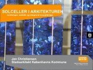 Solceller i arkitekturen - holdninger, æstetik og integreret energidesign