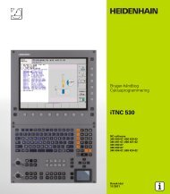 iTNC 530 Cycle programming (SW 340 49x-07, 606 ... - heidenhain