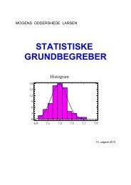 STATISTISKE GRUNDBEGREBER