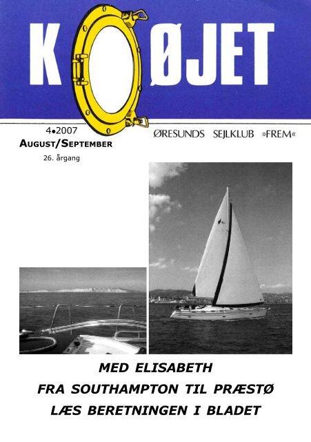 Nr. 4/2007 - Øresunds Sejlklub Frem