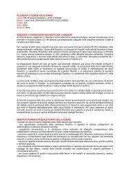 FILOSOFIA E TEORIA DELLE FORME Classe: LM-78 Scienze ...
