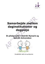 Samarbejde mellem daginstitutioner og dagpleje - Slagelse Kommune