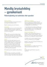 Mandlig brystudvikling – gynækomasti - Aleris