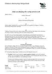Udkast Gladsaxe almennyttige Boligselskab 2012