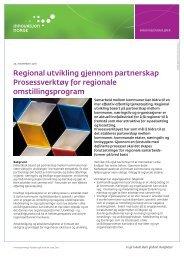 Regional utvikling gjennom partnerskap ... - Innovasjon Norge