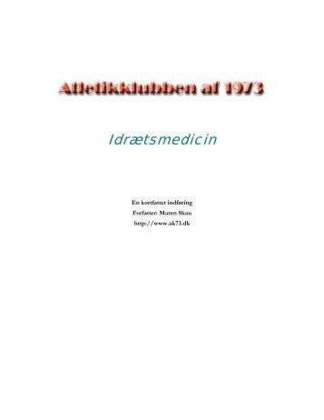 AK 73 - Kort indføring i Idrætsmedicin