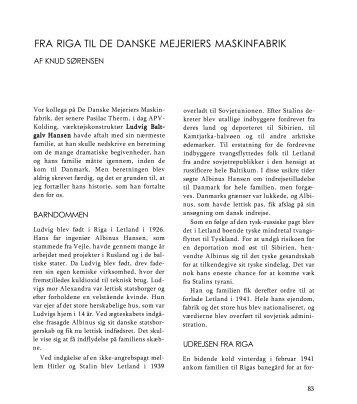 FRA RIGA TIL DE DANSKE MEJERIERS MASKINFABRIK