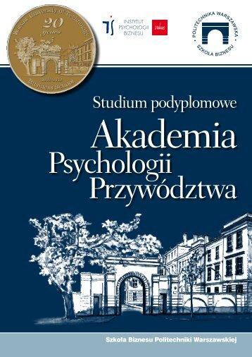 Pobierz broszurę - Szkoła Biznesu Politechniki Warszawskiej