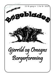 Bøgeblad forår 2010 til Niels - Gjerrild og Omegns Borgerforening