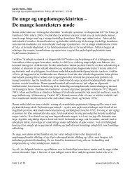 De unge og ungdomspsykiatrien. Hertz S (2004 ... - PsykCentrum