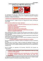 1c32a81c53e renoncer aux suppressions de postes prévues pour la ... - snudi-fo 78
