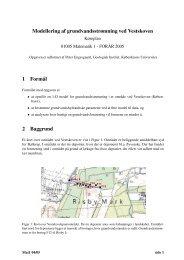 Modellering af grundvandsstrømning ved Vestskoven 1 Formål 2 ...