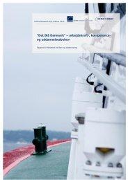 """Det Blå Danmark"""" – arbejdskraft-, kompetence- og uddannelsesbehov"""