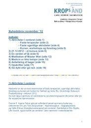 Nyhedsbrev november '12 - Kropsånd - Center for Helhed og Indre ro