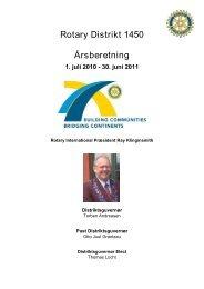 Kære indkommende Præsident - Rotary Danmark