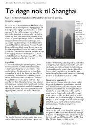 Rejsebrev nr. 9 (Shanghai) - Amanda, Kenneth, Rikke og Ole's ...