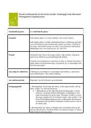 Platangårdens - Dansk kvalitetsmodel på det sociale område