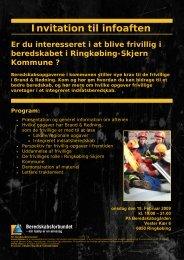 Invitation til infoaften - Beredskabsforbundet Ringkøbing-Skjern