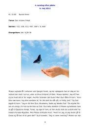 4. søndag efter påske 6. maj 2012 1 Kl. 10.00 Burkal Kirke Tema ...
