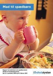Mad til spædbørn - Sundhedsstyrelsen