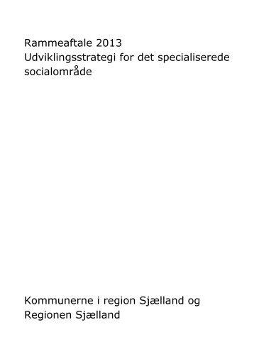 Rammeaftale 2013 Udviklingsstrategi for det ... - Solrød Kommune