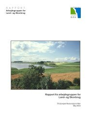 Rapport fra arbejdsgruppen for land- og Skovbrug - Nationalparker