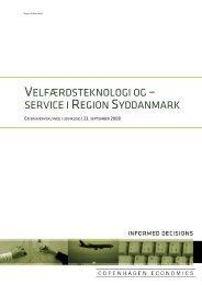 Velfærdsteknologi og –service i Region Syddanmark (Copenhagen