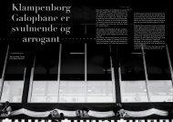 Klampenborg Galopbane er svulmende og arrogant - Kristoffer Thurøe