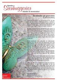 Symboler på gravsten - Danske Stenhuggerier A/S