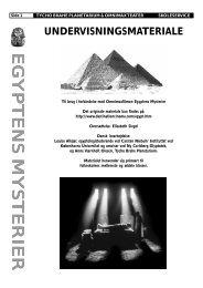 Egyptens mysterier fakta ark - Tycho Brahe Planetarium