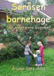 Årsplan for Søråsen barnehage 08-09 - kort versjon