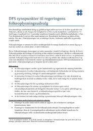DFS' positionspapir - Dansk Folkeoplysnings Samråd