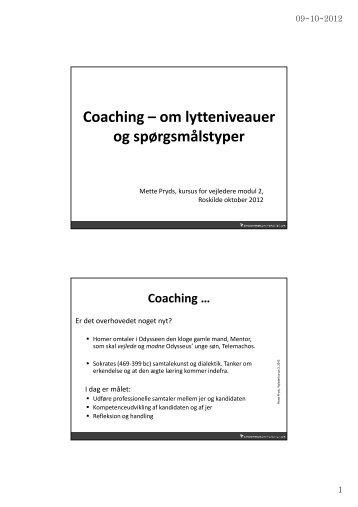 Oplæg om coaching (pdf af PowerPoint)