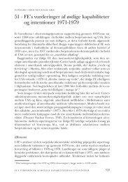 51 · FE's vurderinger af østlige kapabiliteter og intentioner ... - DIIS
