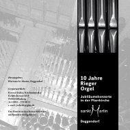 10 Jahre Rieger Orgel - Pfarrei Sankt Martin