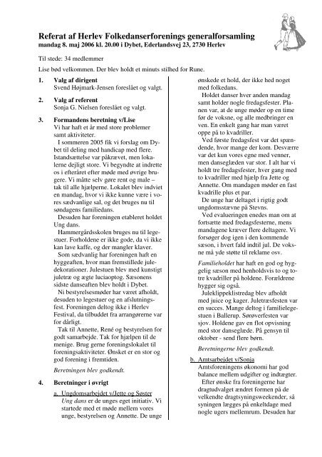Referatet fra generalforsamlingen 8. maj 2006 som pdf-fil - Herlev ...